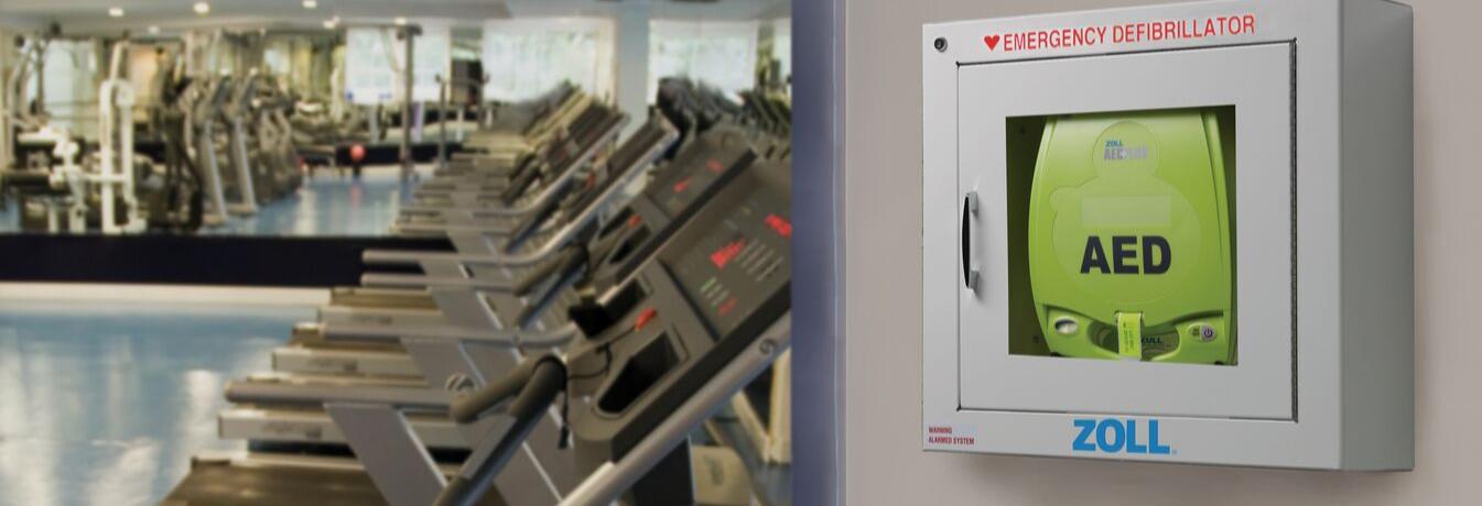 ZOLL AED Plus Fitnessstudio