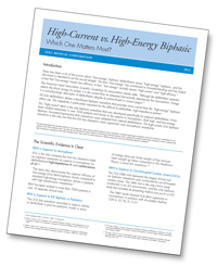 High-Current vs. High-Energy Biphasic image