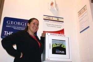 Georgian College staff member Nicole Graham and AED Plus