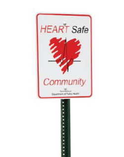 Heart Safe Community sign