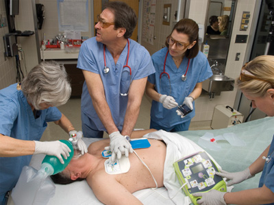 Hospital automated external defibrillator AED Plus