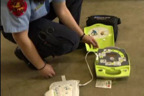 Student firefighter AED