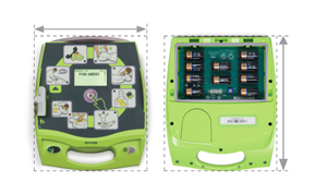 AED Plus front and back