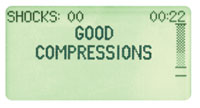 Pantalla de buenas compresiones de AED Plus