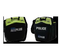 Zwarte draagtassen voor de AED Plus