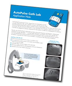 AutoPulse Cath Lab Application Note cover