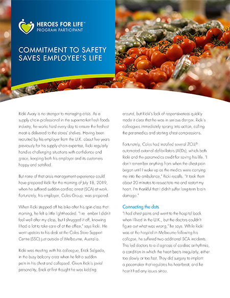 Commitment to Safety Saves Employee's Life