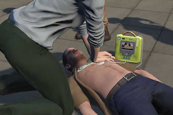 Virtual Reality CPR/AED Training