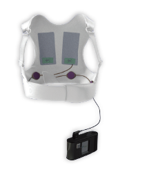 Wearable defibrillator vest only